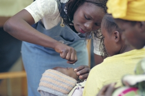 Vaccinating against polio (Image credit: Sanofi Pasteur via Flickr)